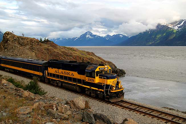 Alaska Rail Road along Turnagain Arm