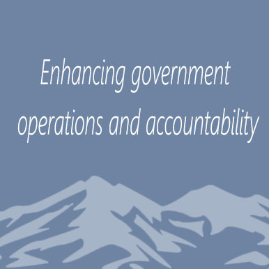 Enhancing government operations and accountability
