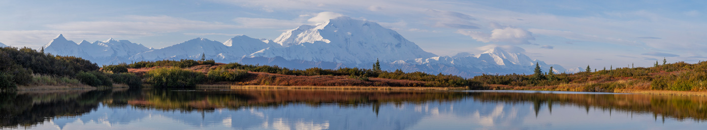 Wonder Lake with Denali, Denali National Park, Alaska