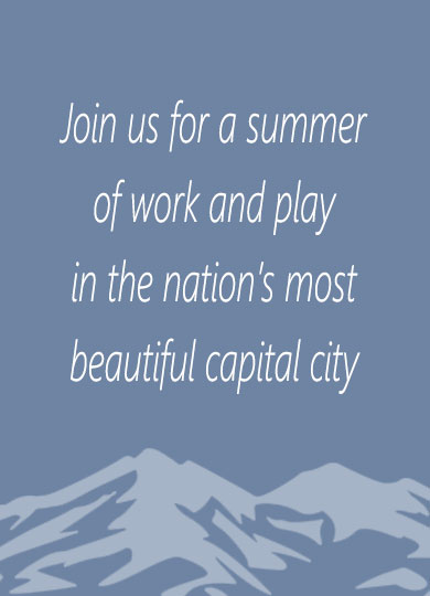 Join us for a summer of work and play in the nation's most beautiful capitol city