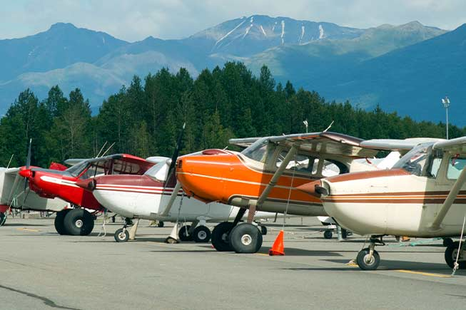 Aircraft on Merrill Field,Anchorage